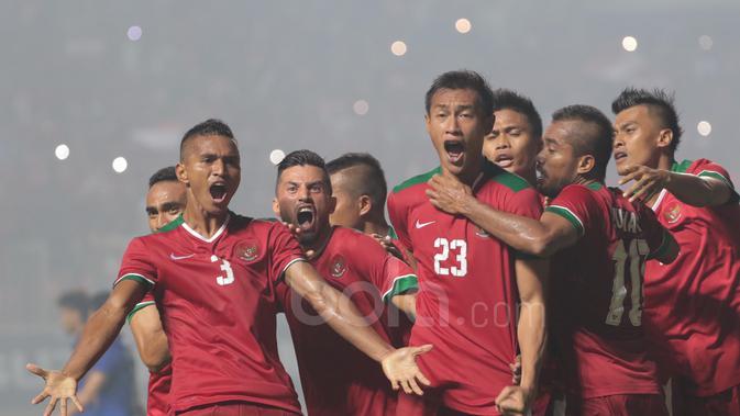 Gol Hansamu Yama. (Bola.com/Nicklas Hanoatubun)