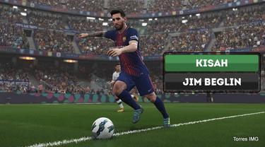 Berita video kisah sedih komentar gim video sepak bola PES (Pro Evolution Soccer) bernama Jim Beglin.