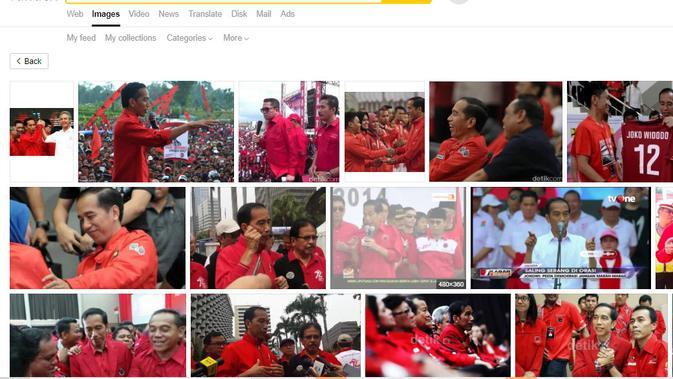 Cek Fakta : Penelusuran klaim foto Presiden Jokowi mengenakan baju merah berlogo PK