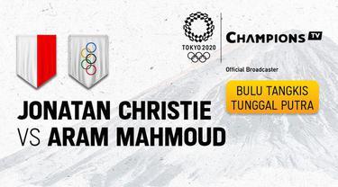 Berita video highlights bulutangkis tunggal putra Olimpiade Tokyo 2020, Jonatan Christie Vs Aram Mahmoud, Sabtu (24/7/21)