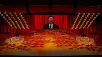 Presiden China Xi Jinping terlihat pada layar selama pertunjukan gala menjelang peringatan 100 tahun berdirinya Partai Komunis China di Beijing, China, 28 Juni 2021. Partai Komunis China akan merayakan HUT ke-100 pada 1 Juli 2021. (AP Photo/Ng Han Guan)