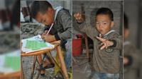 Yanglin, setiap hari mengurus ayahnya yang menderita kelumpuhan sejak terjatuh dari lantai 2 sebuah rumah2013 lalu. (Shanghaiist)