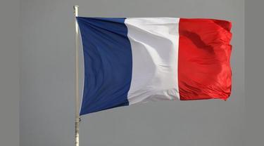 Ilustrasi bendera Prancis.