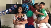 Raffi Ahmad dan Nagita Slavina di ulang tahun Rafathar ke-3. [foto: instagram/raffinagita1717]