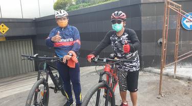 Wali Kota Sutiaji dan Sekda Wasto Kompak Kunjungi Proyek dengan Bersepeda