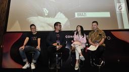 Selebgram Clarice Cutie saat hadir dalam konferensi pers di sela XYZ Day 2018 di The Hall, Senayan City, Jakarta, Rabu (25/4). Acara ini memberikan insight mengenai dunia konten dan media dari semua generasi. (Merdeka.com/Iqbal S Nugroho)