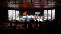 Peluncuran tim Honda Racing untuk kompetisi 2020 di Auditorium Fiera Milano, Milan, Italia, Selasa (5/11/2019). (Liputan6.com/Marco Tampubolon)