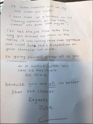 Surat Pendek Petugas Kebersihan bagi Bos-Bos Kejam Sehari Jelang Pensiun, Isinya Menohok