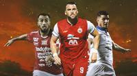 Liga 1 - Ilustrasi Brwa Nouri, Marko Simic, Nick Kuipers (Bola.com/Adreanus Titus)