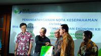 Badan Penyelenggara Jaminan Sosial Ketenagakerjaan  (BPJSTK) membidik para pekerja seni yang mencakup 16 subsektor di Indonesia untuk menjadi peserta BPJS. (Liputan6.com/Fiki Ariyanti)