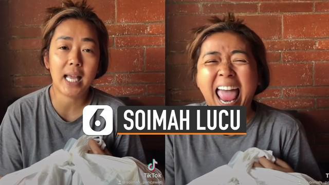 Ada-ada saja tingkah pesinden Soimah ketika membagikan video berterima kasih atas bantuan pemerintah.