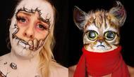 Hannah Grace membuat ilusi optik menggunakan make up. Sumber: Instagram/theillusionartist_