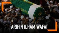 Ribuan orang antarkan kepergian Ustaz Arifin Ilham. Jemaah mensalatkan jenazah di Masjid Azzikra, Sentul. Rencananya Ustaz Arifin Ilham akan dimakamkan di Pesantren Azzikra, Gunung Sindur, Bogor.