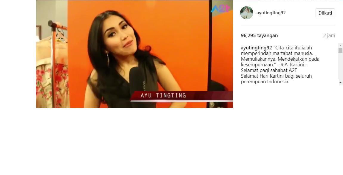 Ayu Ting Ting kembali dihujat netizen (Foto: Instagram)