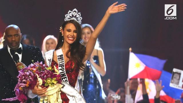 Catriona Gray dinobatkan sebagai Miss Universe 2018. Catriona sempat ditanya pendapatnya tentang legalisasi ganja. Berikut jawabannya.