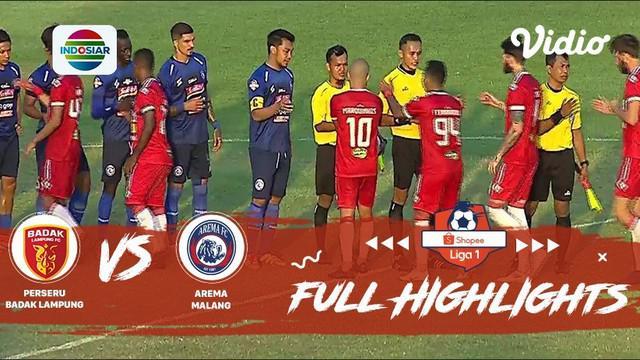 Berita video highights Shopee Liga 1 2019, Badak Lampung FC vs Arema FC yang berakhir dengan skor 4-3, Jumat (1/11/2019) di PKOR Sumpah Pemuda , Bandar Lampung.