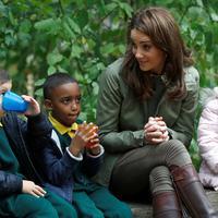 Kate Middleton (PETER NICHOLLS / AFP)