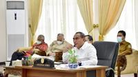 Gubernur Sumut, Edy Rahmayadi, memimpin rapat koordinasi