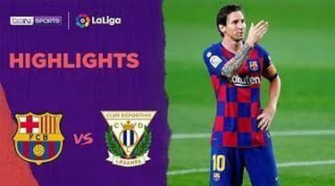 Berita video highlights La Liga 2019-2020 antara Barcelona melawan Leganes yang berakhir dengan skor 2-0, Rabu (17/6/2020) dini hari WIB.