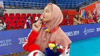 Pemain bola voli putri Timnas Indonesia Wilda Siti Nurfadhilah mengucapkan HUT ke-75 RI. (foto: instagram.com/wildanurfadhilahh)