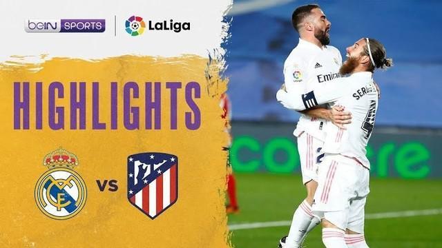 Berita video highlights laga pekan ke-13 Liga Spanyol 2020/2021 antara Real Madrid melawan Atletico Madrid yang berakhir dengan skor 2-0, Minggu (13/12/2020) dinihari WIB.