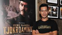 Ade Firman Hakim hadiri gala premier film 'Guru Bangsa: Tjokroaminoto'. Foto: Galih Satria.