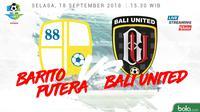 Liga 1 2018 Barito Putera Vs Bali United (Bola.com/Adreanus Titus)
