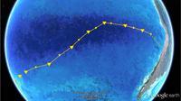 Gurun di Samudra Pasifik. (Max Planck Institute for Marine Microbiology/Google Earth/NASA)