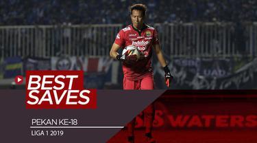 Berita video penyelamatan-penyelamatan terbaik yang dilakukan kiper pada pekan ke-18 Shopee Liga 1 2019.