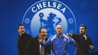 Chelsea - Frank Lampard, Rafael Benitez, Luiz Felippe, Andre Villas-Boas (Bola.com/Adreanus Titus)