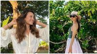 Habiskan waktu liburan bersama ini kompaknya Cathy Sharon dan Julie Estelle. (Sumber: Instagram/@cathysharon/@julstelle)