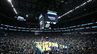 Markas Charlotte Hornets, Spectrum Center, akan menjadi tuan rumah NBA All-Star 2019. (media.bizj.us)