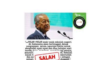 Cek Fakta Mahathir Mohamad