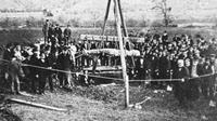 Sosok raksasa Cardiff Giant ditemukan di New York pada 16 Oktober 1869 (Wikipedia/Public Domain)