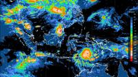 Bibit siklon tropis terpantau berada di Laut Banda sebelah selatan Maluku. (Foto: BMKG)