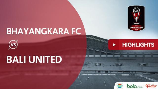 Berita video highlights Piala Presiden 2019 antara Bhayangkara FC melawan Bali United di Stadion Patriot, Bekasi, yang berakhir dengan skor 4-1, Kamis (14/3/2019).