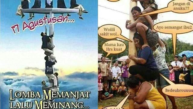 Unduh 610 Koleksi Gambar Lucu 17 Agustus Panjat Pinang Terupdate