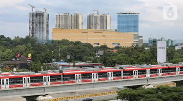Progres Pembangunan Kereta LRT Jabodebek