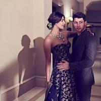 Priyanka Chopra dan Nick Jonas dalam resepsi pernikahan kedua (Instagram @priyankachopra)