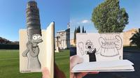 Pria Ini Gabungkan Gambar Kartun dan Realita, 6 Hasilnya Bikin Takjub (sumber: Boredpanda)