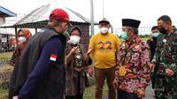 Menteri Sosial Tri Rismaharini di Sumawesi Barat