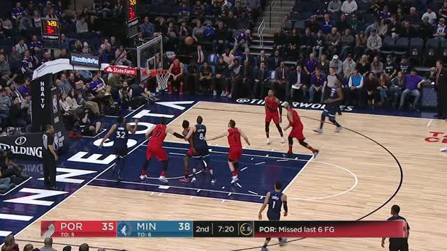 Berita video game recap NBA 2017-2018 antara Minnesota Timberwolves melawan Portland Trail Blazers dengan skor 120-103.