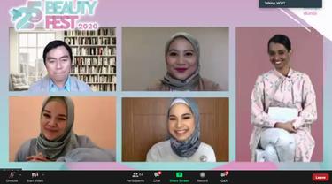 Konferensi Pers Virtual Wardah Beauty Fest 2020.
