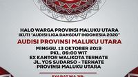 Audisi LIDA di Maluku Utara di Ex Kantor Walikota Ternate, Minggu (13/10/2019)