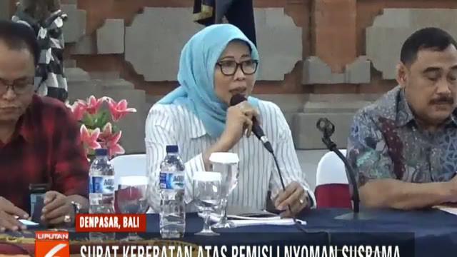 Surat tersebut berisi keberatan aliansi jurnalis Bali dari aspek hukum serta surat dari keluarga korban.
