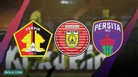 3 Klub Promosi Shopee Liga 1 2020: Persiraja Banda Aceh, Persik Kediri, Persita Tangerang. (Bola.com/Dody Iryawan)