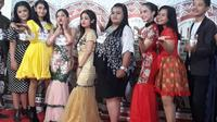 Peserta LIDA 2020 dengan kemampuan vokal yang sangat bagus yang lolos seleksi awal dan ikuti audisi akhir tingkat Kota Besar di Wisma Perdamaian Semarang, tengah diwawancara.( Foto: Liputan6.com/ Felek Wahyu)