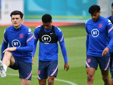 Foto Piala Eropa: Kabar Baik Bagi Hooligan, Harry Maguire Kembali Berlatih Bersama Timnas Inggris Jelang Euro 2020