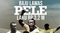 Baju lawas Pele laku Rp 3,2 M. (Bola.com/Dody Iryawan)
