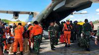 Tim SAR gabungan dari Jayapura yang diberangkatkan ke Oksibil lakukan penccarian helikopter MI-17. (Liputan6.com/Katharina Janur/SAR Jayapura)